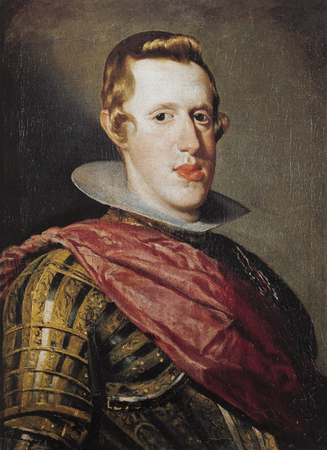 Bust portrait of Philip IV, King of Spain, painted by Diego Velazquez. Museo del Prado, Madrid