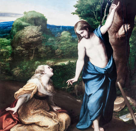 Noli me tangere, 1525. Painted by Corregio or Antonio Allegri. Museo del Prado, Madrid