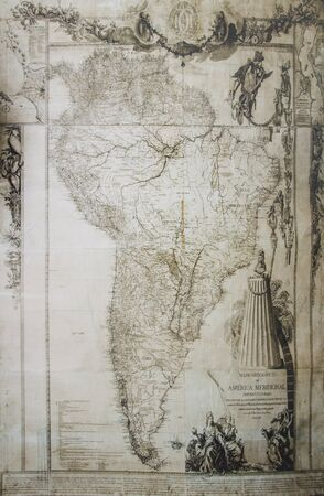 1775 South America Map by Juan de la Cruz Cano y Olmedilla. General Archive of the Indies, Seville, Spain