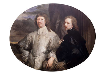 Endymion Porter and Anthony van Dyck by Van Dyck, 1633. Detail. Museo del Prado, Madrid