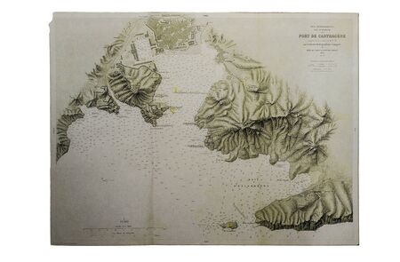 Historic map of Ceuta, Larache and Ibiza, 1705. Claude Masse Atlas, mapping compilation made by French espionage services