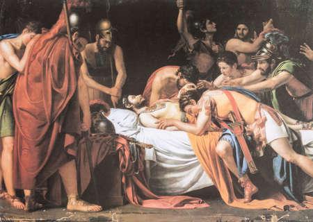 Death of Viriatus, Chief of the Lusitanians. Painted by Jose de Madrazo y Agudo in 1807. Museo del Prado. Detail