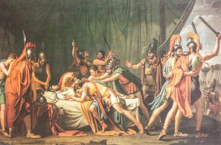 Death of Viriatus, Chief of the Lusitanians. Painted by Jose de Madrazo y Agudo in 1807. Museo del Prado