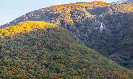 Chorrero de la Virgen waterfall at Natural Reserve Garganta de los Infierno, Extremadura, Spain
