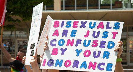 Pride LGBTQ+ Bisexual Ignorance sign