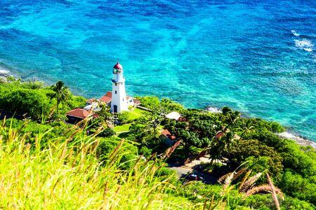 Lighthouse on the island of Oahu, Hawaii