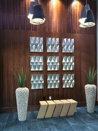 Sitting area in lobby of a building