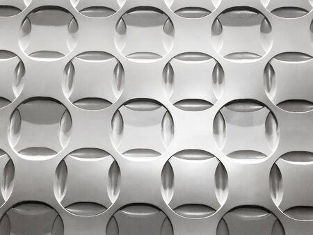 Panel of circles in silver panel background