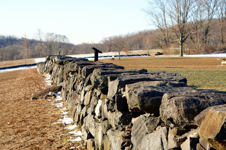 Photo of a stone wall at a park in Delaware.