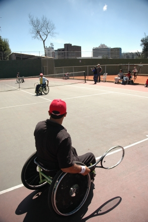 disabled sports: Wheelchair athlete