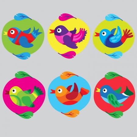 Funny Bird collection Vector