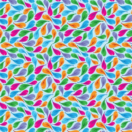 opalesce: Seamless feather pattern