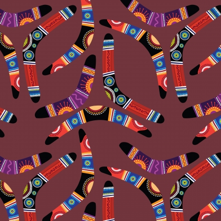 boomerangs: Seamless pattern with boomerangs