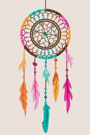 legends folklore: Vector Dream Catcher