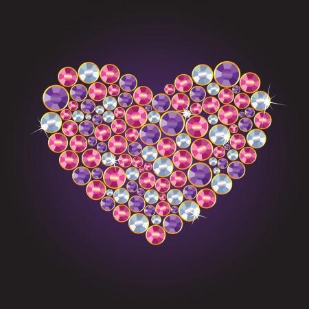 polyhedron: Diamond Heart Illustration