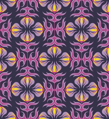 rapport: Seamless pattern with floral ornament