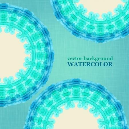 Watercolor aqua circle background. Vector illustration. Vector