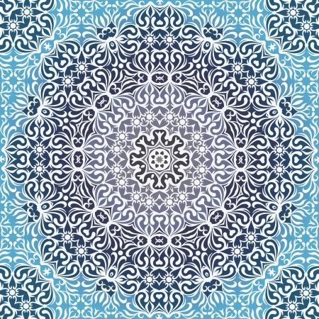 Lace circle oriental ornament, white ornamental doily pattern. Stock Vector - 21075935