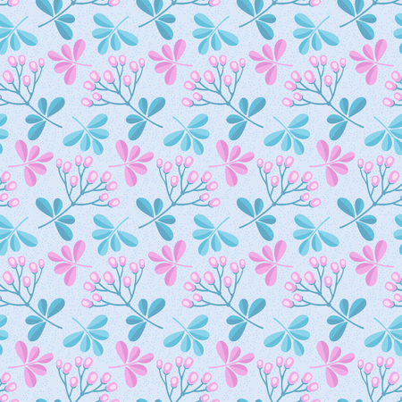 Tender pastel flower seamless pattern. 矢量图像