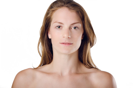 decolletage: Woman With Natural Beauty and Healthy Skin & body