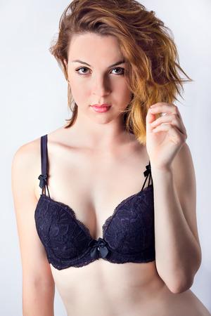 Beautiful Sexy Woman In Lingerie Bra