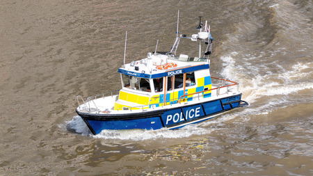 River Police Boat. Marine Police Force Editorial