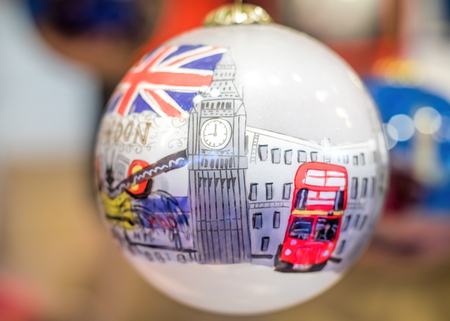 london night: London Bauble Christmas Tree Decoration Gift