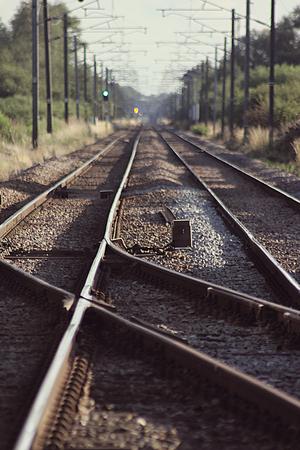 Electic Train Tracks. Railway Line