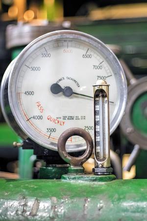 steam output: Analogue Gauge. Industrial Water Steam Measurement.