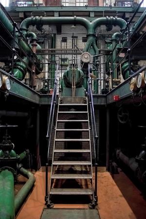 London, UK - September 09, 2015: Kempton Steam Works, Industrial Water Works.