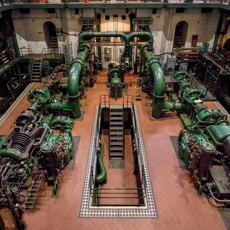 London, UK - September 09, 2015: Kempton Steam Works, Industrial Turbine Hall & Water works. Editorial