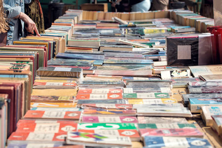 London, UK - May 29, 2016: South Bank Second Hand Book Market.