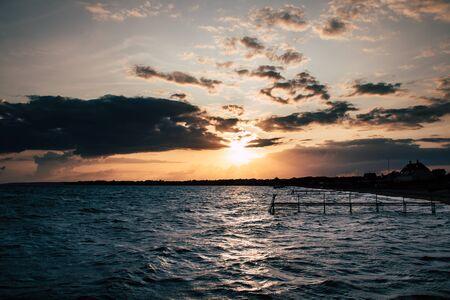 Sunset on the Danish Coast - Jutland Archivio Fotografico