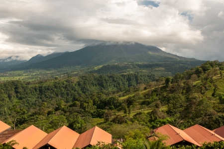 Volcano Arenal landscape on a cloudy day- Costa Rica photo