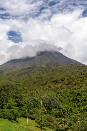 Volcano Arenal  on a cloudy day- Costa Rica photo