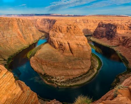 Hoefijzer kromming van de rivier de Colorado in Pagina Arizona