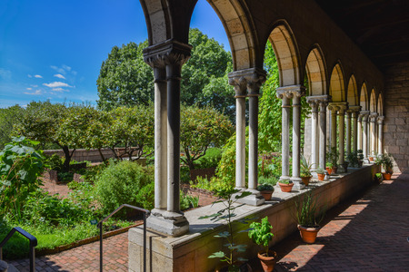 Garden of the Cloisters Museum in New York Stock Photo