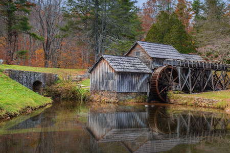 gristmill: Mabry Mill a restored gristmill on the Blue Ridge Parkway in Virginia