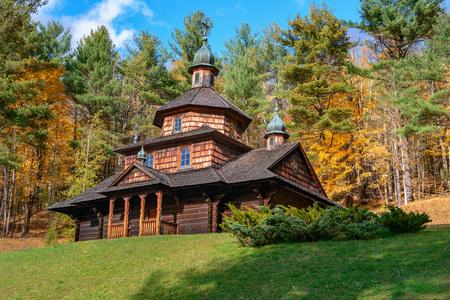 The old wooden Ukrainian church- catskill new york state USA