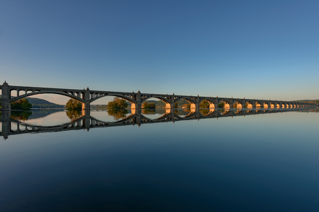 Veterans Memorial Bridge, spans the Susquehanna River between Columbia and Wrightsville, Pennsylvania