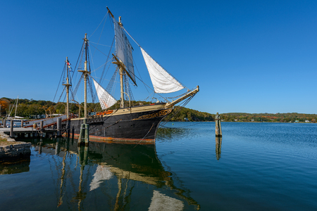 The Joseph Conrad at Mystic Seaport, Mystic CT Full-Rigged Ship  Built in Copenhagen in 1882