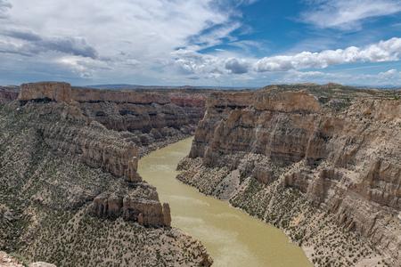 Bighorn Canyon National Recreation Area in Wyoming and Montana, USA 版權商用圖片