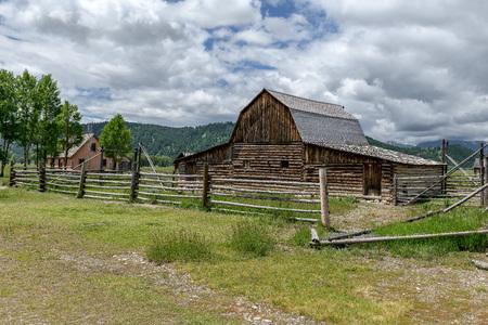 Historic Moulton Barn in Grand Teton National Park, Wyoming, USA