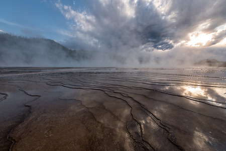 Textures of Grand Prismatic Spring in Yellowstone National Park - Wyoming, USA