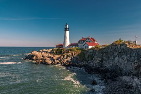 Portland Head Light, is a historic lighthouse in Cape Elizabeth, Maine.
