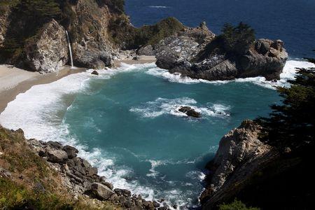 View of McWay falls in Big Sur California
