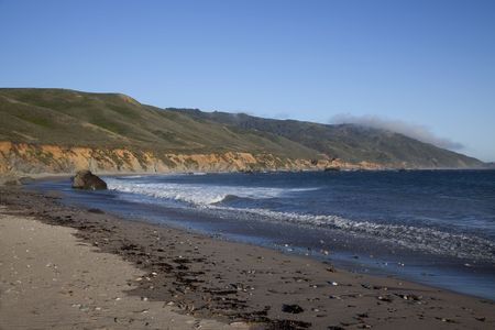 View of the beach and coastline of Andrew Molera State Park in Big Sur California Stock Photo - 7299084