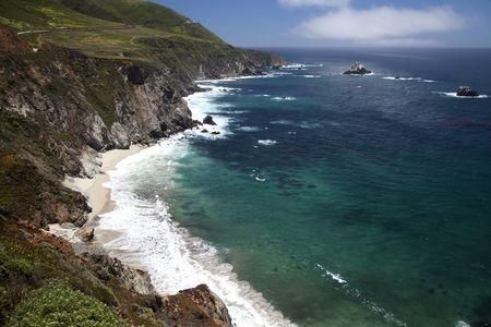 View of the Big Sur coastline in California