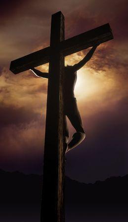 Jésus sur la Croix Banque d'images - 7038016
