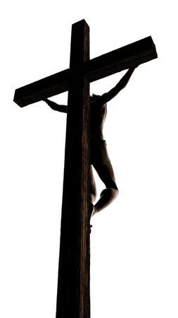 Jésus sur la Croix.  Banque d'images - 7038009